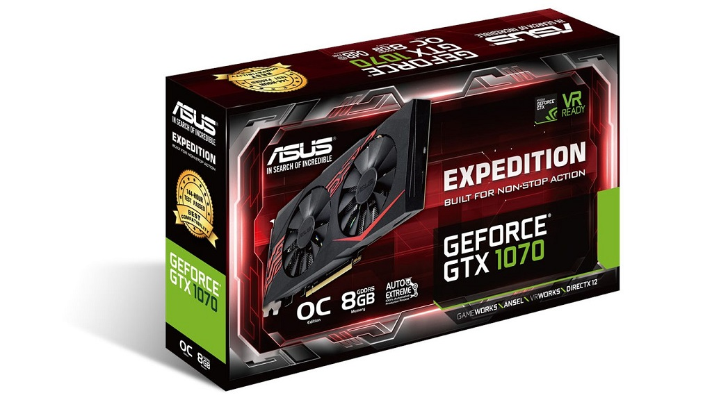 ASUS anuncia la nueva EXPEDITION GTX 1070, una gráfica potente y discreta 28