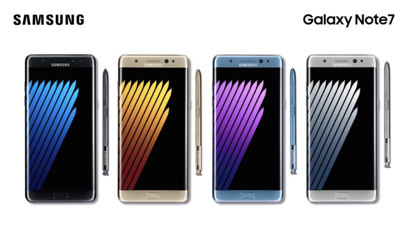 fallos del Galaxy Note 7