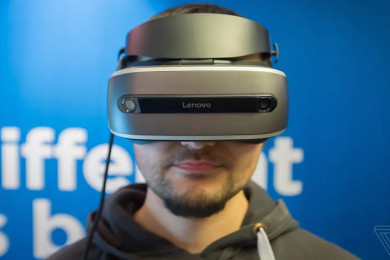 Lenovo muestra su dispositivo VR bajo Windows Holographic