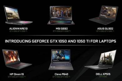 NVIDIA presenta las GTX 1050 y GTX 1050 TI para portátiles