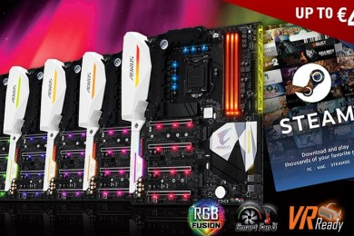 GIGABYTE regala saldo en Steam con la compra de placas base AORUS Gaming