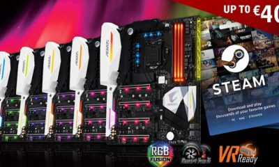 GIGABYTE regala saldo en Steam con la compra de placas base AORUS Gaming 156