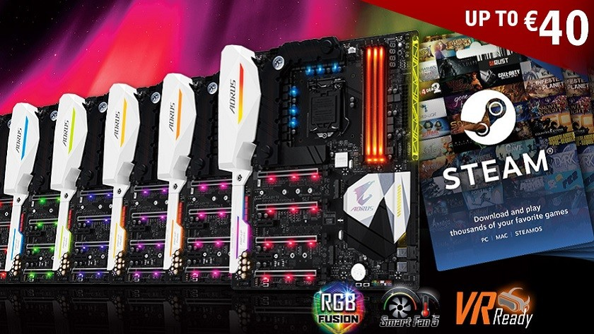GIGABYTE regala saldo en Steam con la compra de placas base AORUS Gaming
