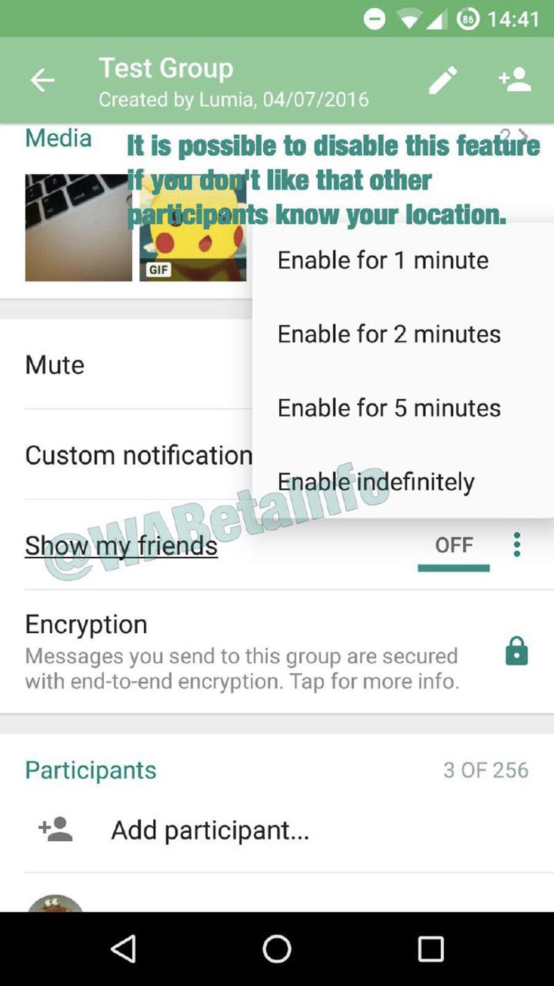 localizacion whatsapp