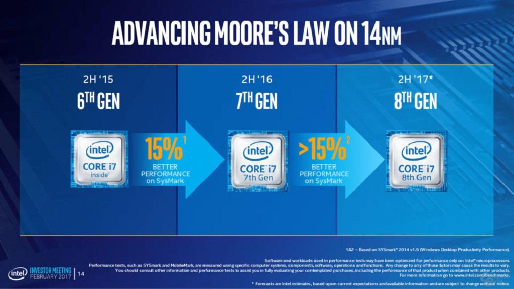 Intel asegura que los Core i7 8000 rendirán un 15% más que Kaby Lake 29