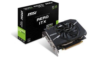 Nuevas MSI GTX 1070,1060 y 1050(Ti) AERO ITX, potencia compacta 118