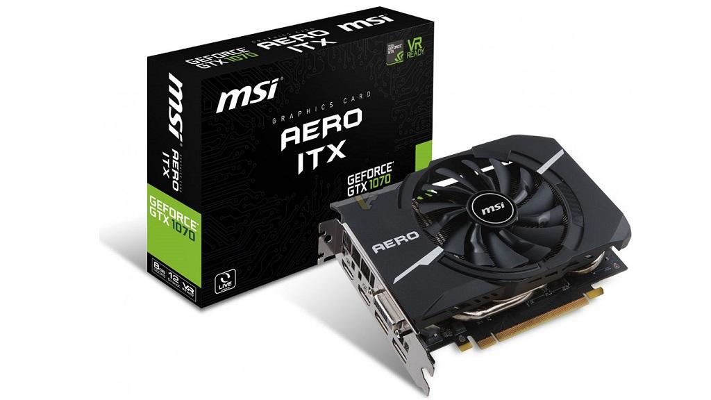 Nuevas MSI GTX 1070,1060 y 1050(Ti) AERO ITX, potencia compacta 30