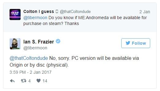 Mass Effect Andromeda no asistirá a Steam™ (2)
