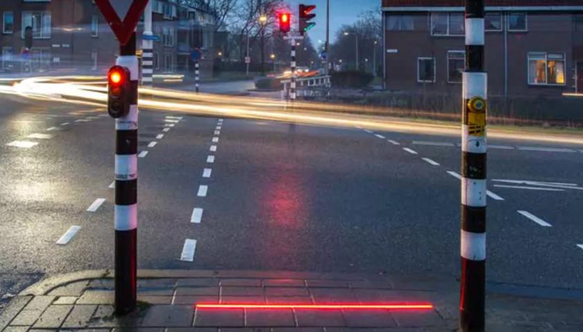semáforos de suelo