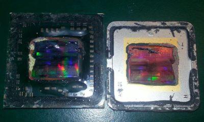 Esta herramienta ayuda a abrir el IHS de un procesador con un martillo 95
