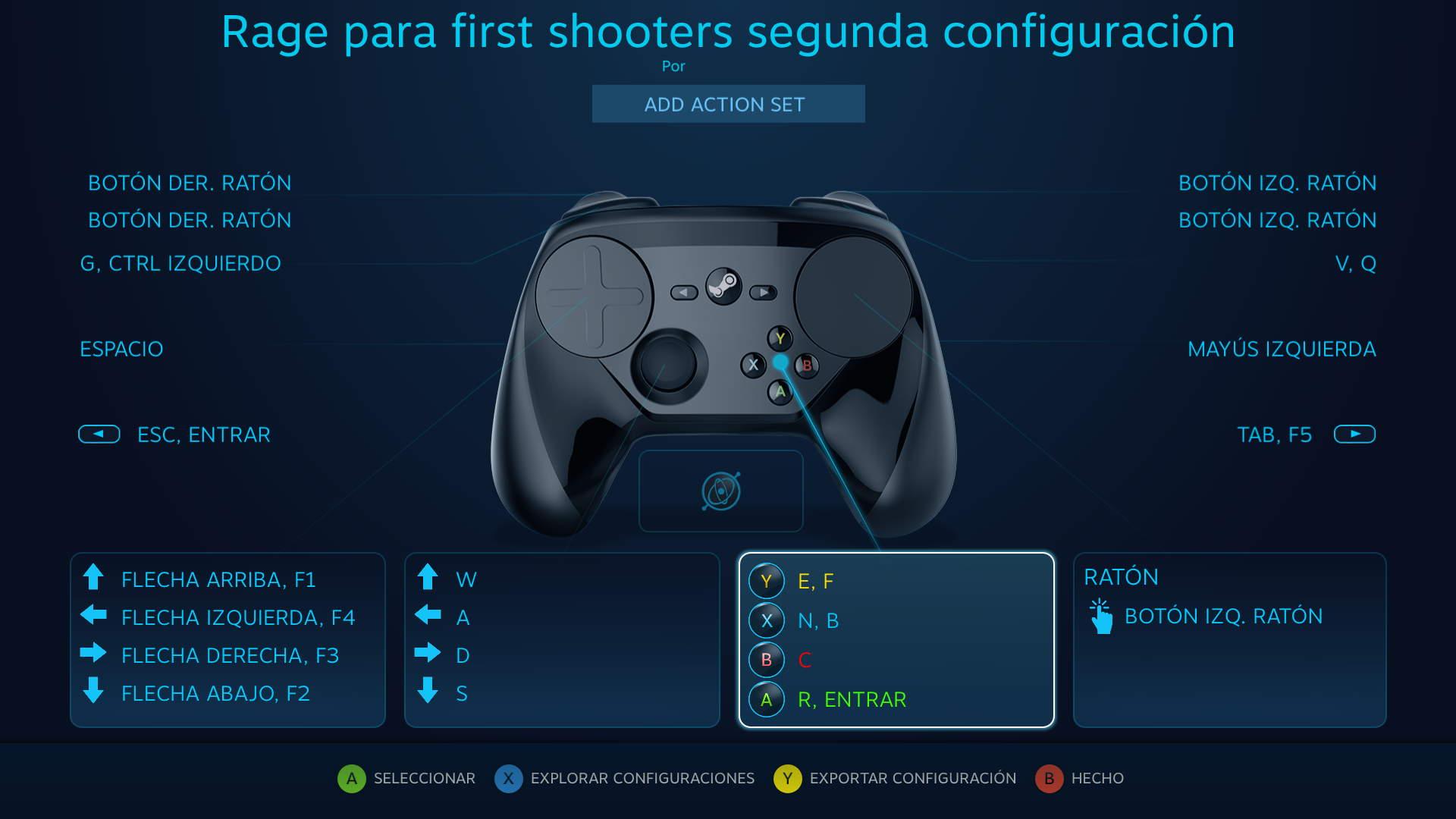 Configuración del Steam Controller para Rage
