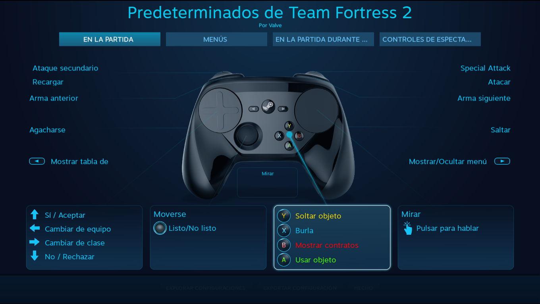 Configuración del Steam Controller para Team Fortress 2