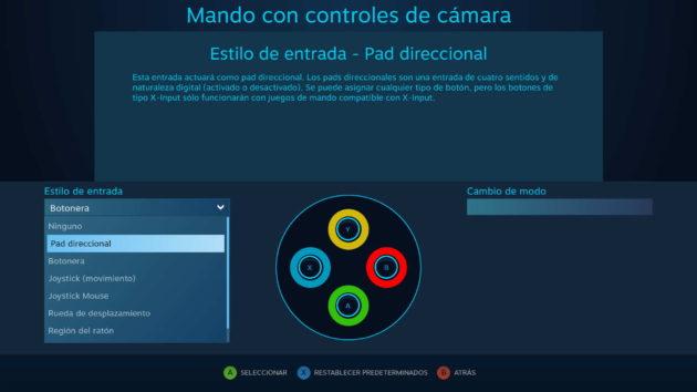 Convertir la botonera en una cruceta o pad direccional