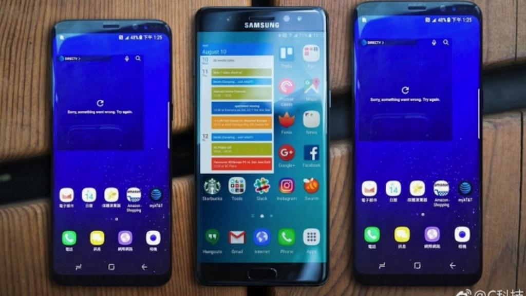 Galaxy S8 y Galaxy S8+ posan junto al Galaxy Note 7 29