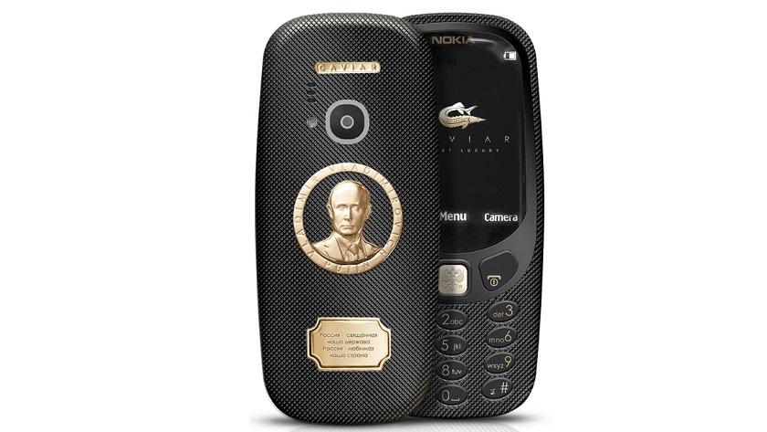 Caviar sorprende con un Nokia 3310 en oro y titanio 29