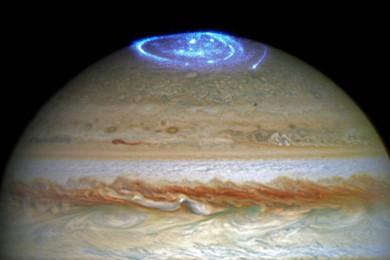 Juno nos muestra los polos de Júpiter en toda su gloria