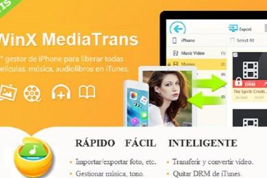 WinX MediaTrans permite quitar DRM de iTunes y convertir M4V a MP4