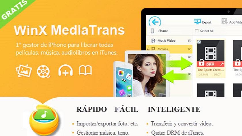 WinX MediaTrans permite quitar DRM de iTunes y convertir M4V a MP4 31