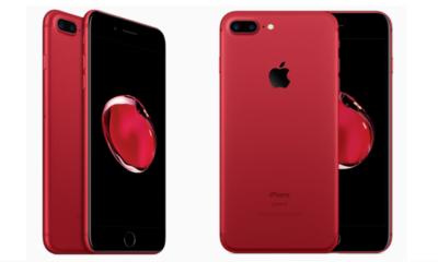 Así es un un iPhone 7 Plus RED con el frontal en negro 72