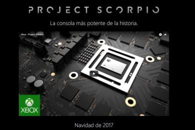 Project Scorpio ya tiene web oficial