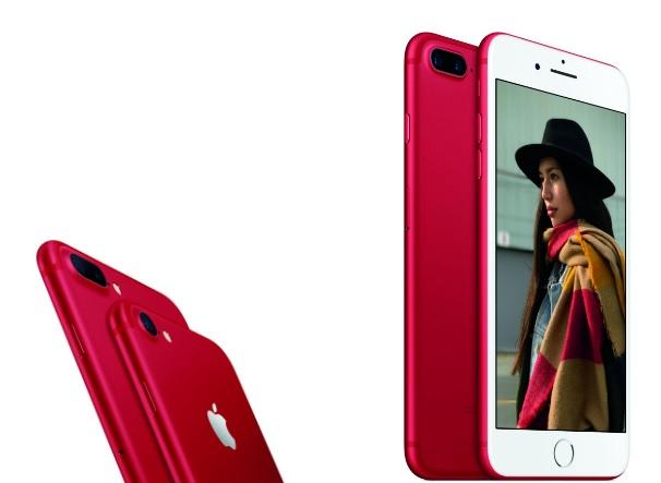 un iPhone 7 rojo