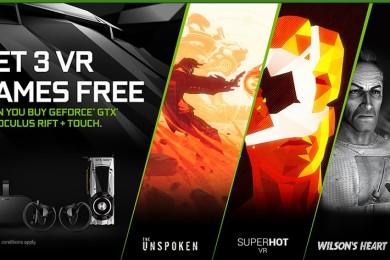 NVIDIA confirma el GeForce GTX Oculus Bundle con tres juegos gratis