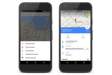 Google Maps ya recuerda donde aparcaste el coche