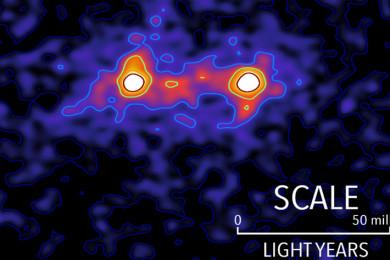 "Astrónomos capturan la primera ""imagen"" de la materia oscura"