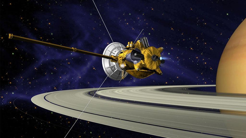 Casssini sale ilesa de su primera incursión entre los anillos de Saturno 29
