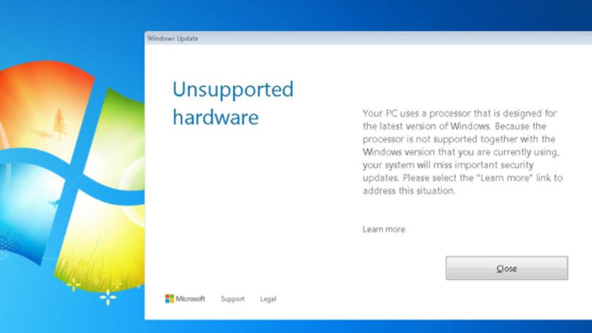 Microsoft bloquea actualizaciones para Windows 7 en equipos con CPUs nuevas