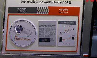 SK Hynix muestra la primera oblea de GDDR6 en la GTC de 2017 78