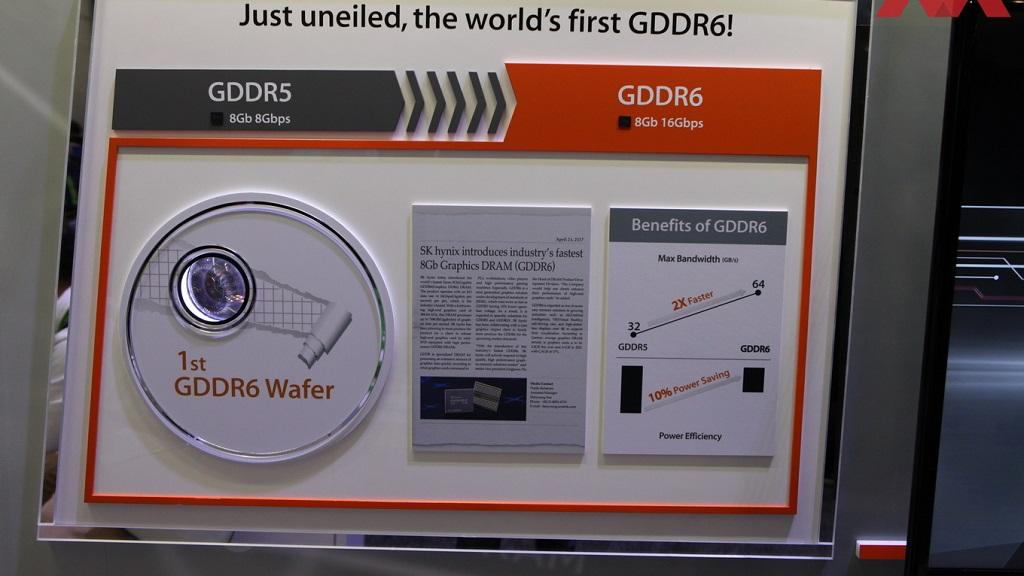 SK Hynix muestra la primera oblea de GDDR6 en la GTC de 2017 30