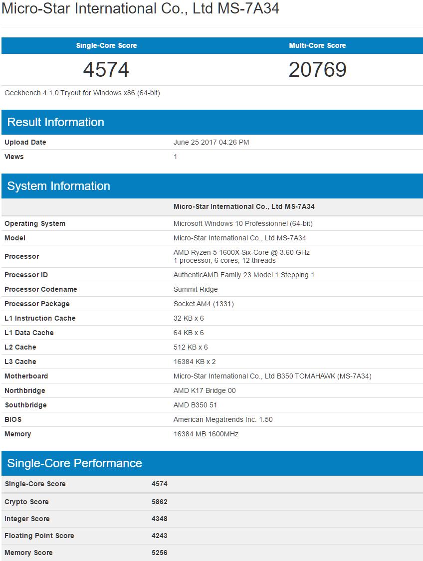 Rendimiento en Geekbench del Intel Coffe Lake de 6 núcleos y 12 hilos 33