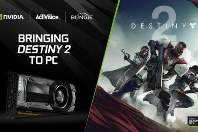 NVIDIA regalará Destiny 2 con la compra de una GTX 1080 o GTX 1080 TI