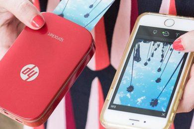 Nueva HP Sprocket en color rojo, disfruta de tus fotos favoritas en cualquier lugar