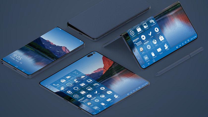Surface Note, espectacular concepto de smartphone Windows plegable