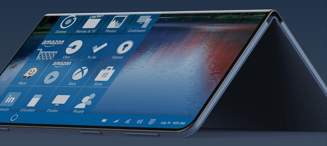 Surface Note, espectacular concepto de smartphone Windows plegable 30