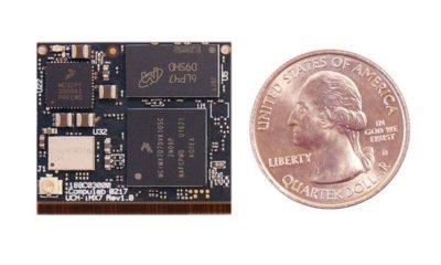 El nuevo mini PC UCM-iMX7 es casi tan pequeño como una moneda 28