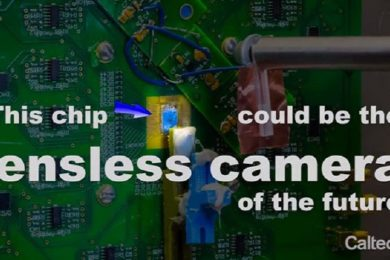 Desarrollan cámara totalmente plana que capta imágenes sin lentes