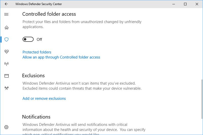 Windows 10 protegerá tus archivos del ransomware 33