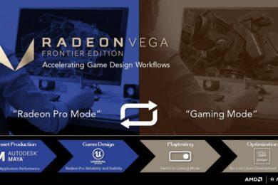 AMD introduce el modo Gaming en la Radeon Vega Frontier Edition