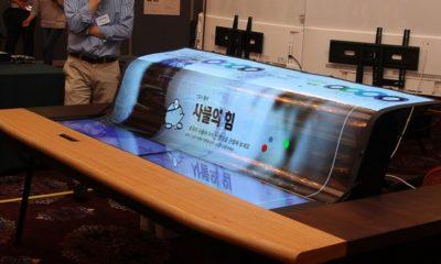LG sorprende con una pantalla flexible 4K y semitransparente de 77 pulgadas 76