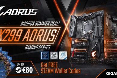 GIGABYTE regala hasta 80 euros en Steam al comprar placas base X299