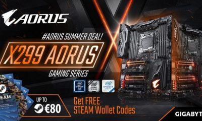 GIGABYTE regala hasta 80 euros en Steam al comprar placas base X299 40