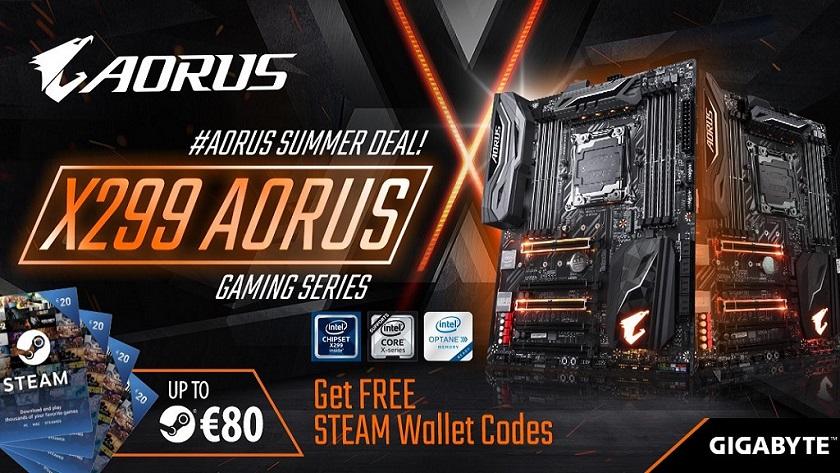 GIGABYTE regala hasta 80 euros en Steam al comprar placas base X299 28
