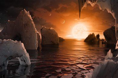 Los planetas de Trappist-1 se habrían formado con trozos de hielo fundido
