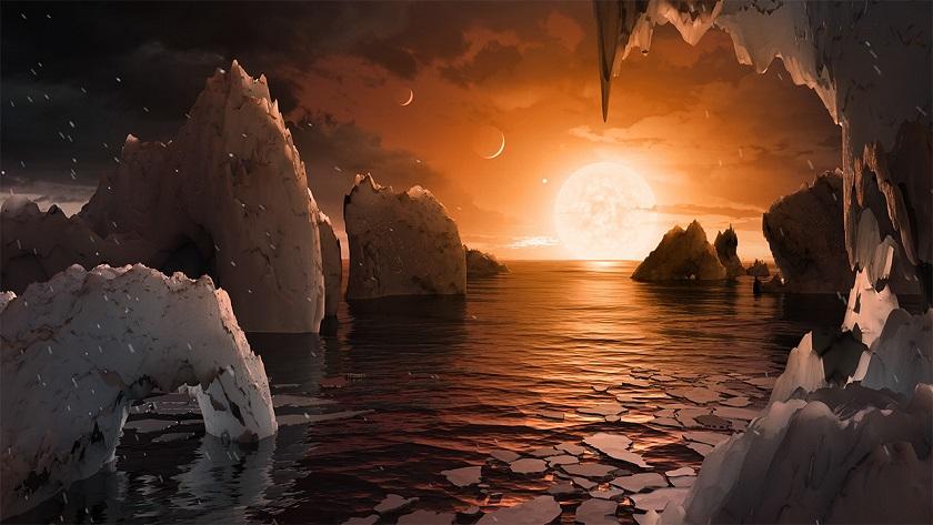 Los planetas de Trappist-1 se habrían formado con trozos de hielo fundido 35