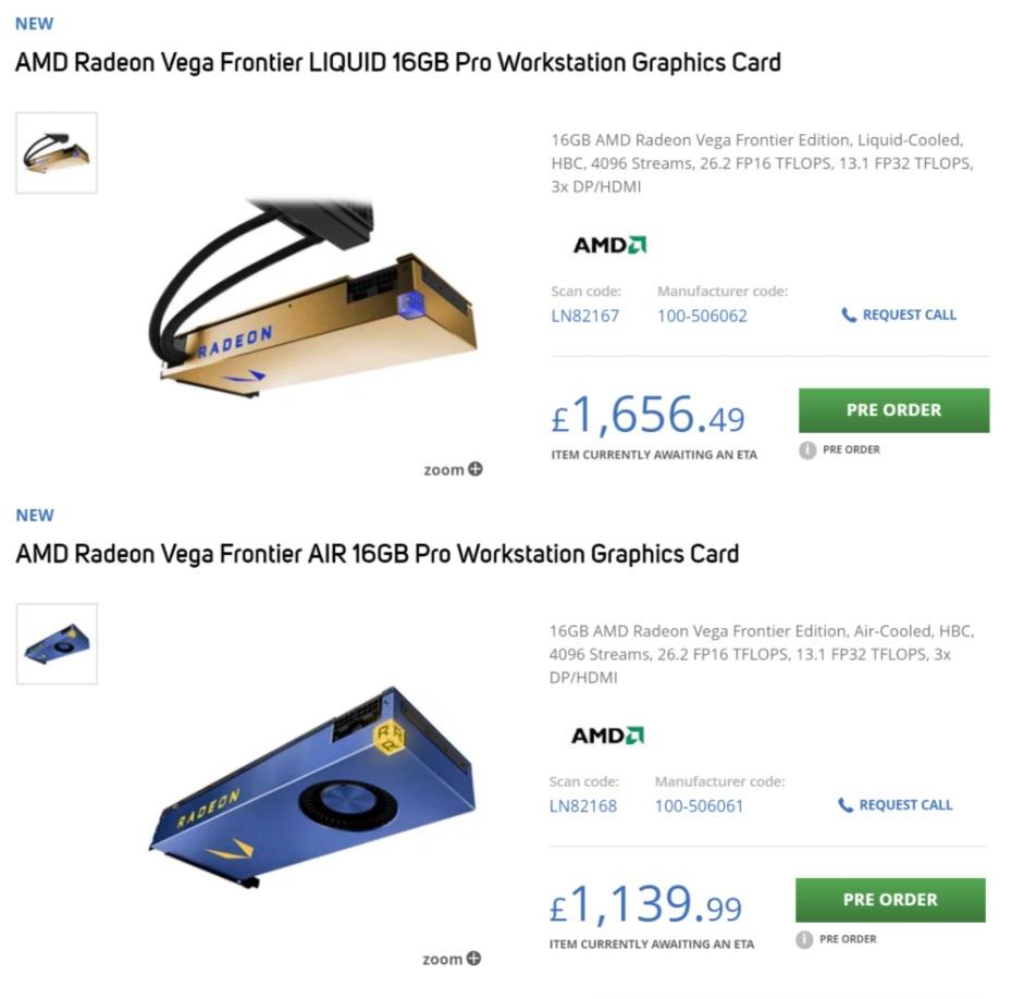 Listadas en precompra las Radeon Vega Frontier Edition 31