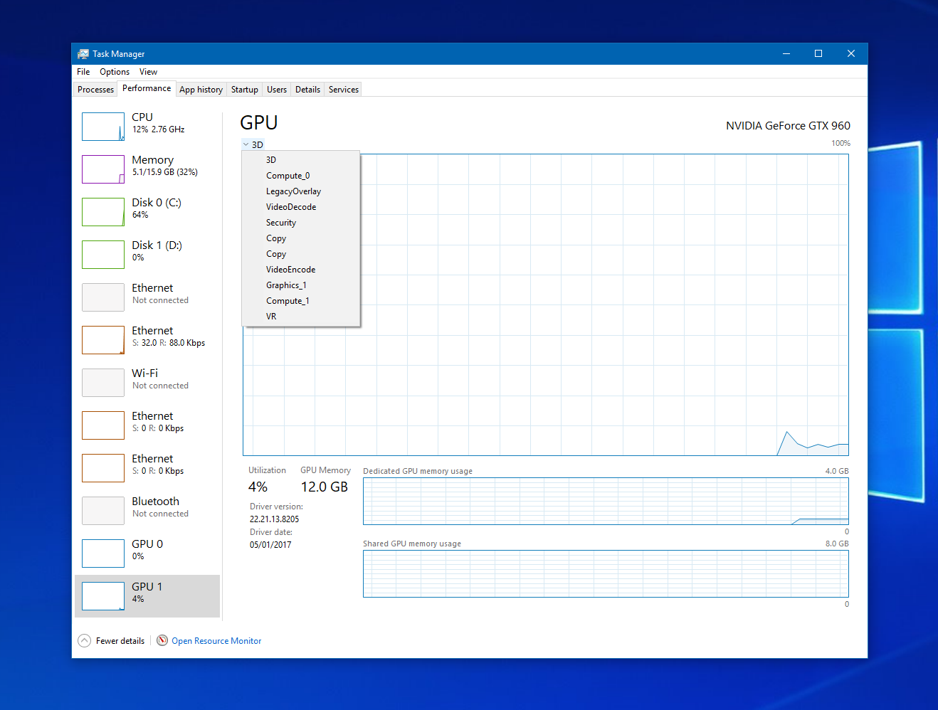 Windows 10 Insider añade la GPU al administrador de tareas | 3G Móvil