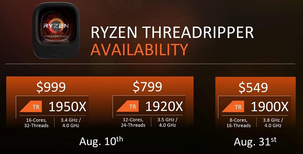 AMD anuncia sus CPUs Threadripper, especificaciones y precios 33